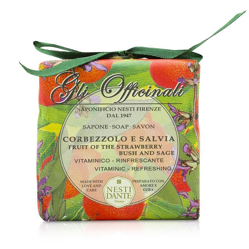 Nesti Dante 内斯蒂丹特 草本药用皂——草莓&鼠尾草 清洁肌肤 天然的芳香手工皂 调理肌肤 200g