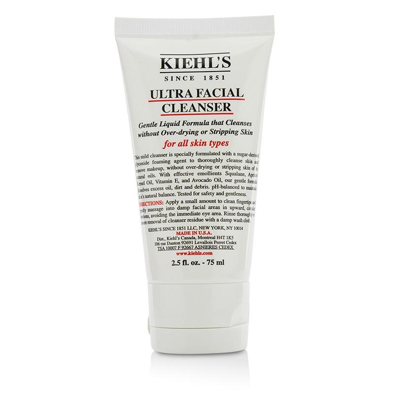 Kiehl's 科颜氏 保湿洁面啫喱 - 适合各种肌肤 活肤补水 深层清洁肌肤 去除多余油脂 75ml