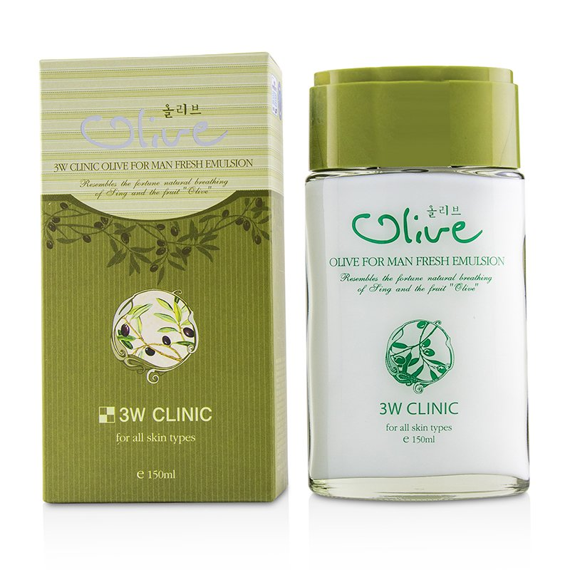 3W Clinic 3W诊所  橄榄男士清爽乳液Olive For Man - Fresh Emulsion 150ml