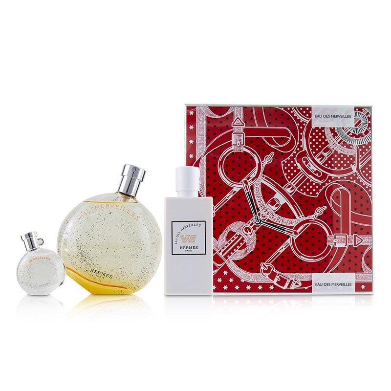 Hermes 爱马仕  橘采星光香水套装: 淡香水喷雾100ml + 身体乳80ml + 淡香水7.5ml 3pcs