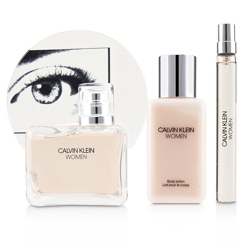 Calvin Klein 卡尔文·克莱 女士香水套装:香水+身体乳+香水小样 留香持久 滋润肌肤 3pcs