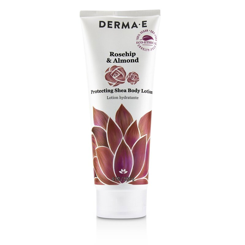 Derma E 德玛依 玫瑰果杏仁身体乳 Rosehip & Almond Protecting Shea Body Lotion 舒缓补水 调理肌肤 227g