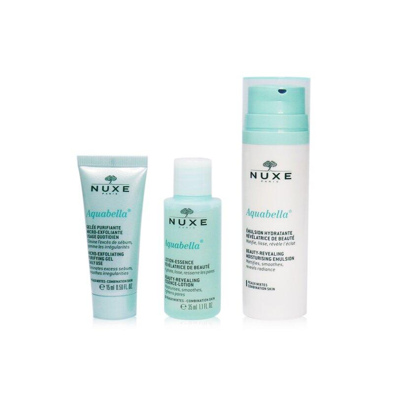 Nuxe 欧树 护肤旅行套装(凝胶15ml + 精华液35ml+乳液50ml)滋润保湿 清爽不黏腻 3pcs